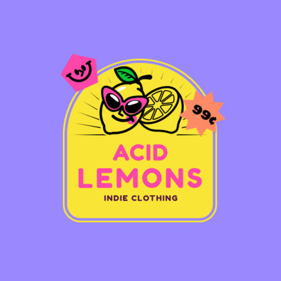 Illustrated Logo Maker for a Junior Clothing Brand with a Cool Lemon 3849B