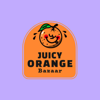 Online Logo Creator for a Clothing Bazaar with a Juicy Orange Character 3849C