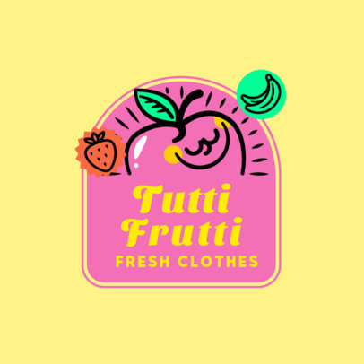 Logo Maker for a Kids Clothing Brand with a Smiling Apple 3849D