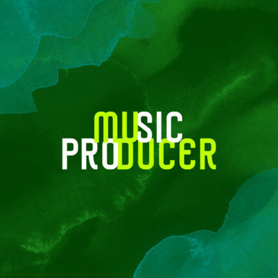 Simple Logo Generator for Music Producers Featuring an Abstract Smoky Background 3853b