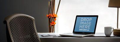 MacBook Pro On Office Desk Wide