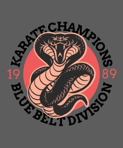 T-Shirt Design Maker Featuring Martial Arts Graphics 3202