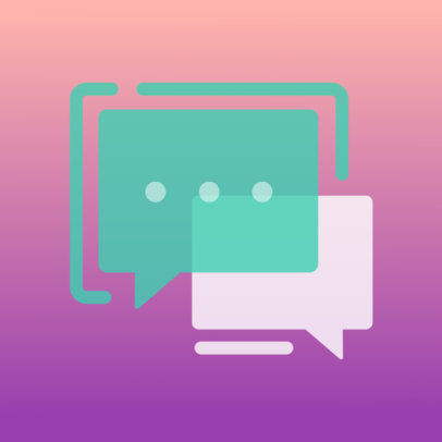 iOS  App Icon Maker Featuring a Chat Graphic 3180b