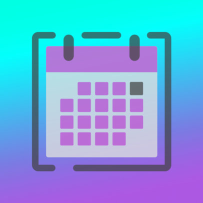 Simple iOS App Icon Creator with a Calendar Graphic and a Gradient Background 3180d