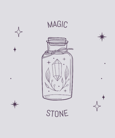 Illustrated T-Shirt Design Generator Featuring a Magic Stone Inside a Bottle 3232a-el1