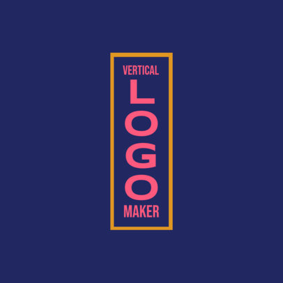 Typography Logo Template with a Vertical Structure 3867