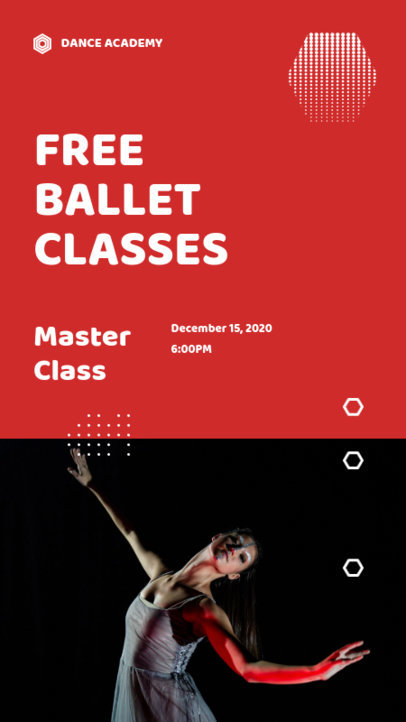 Modern Instagram Story Design Maker for a Free Ballet Class 3240a-el1