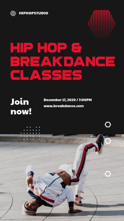 Instagram Story Maker to Announce a Hip Hop Dance Class 3240d-el1