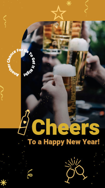 Instagram Story Design Maker to Celebrate a Happy New Year 3198m