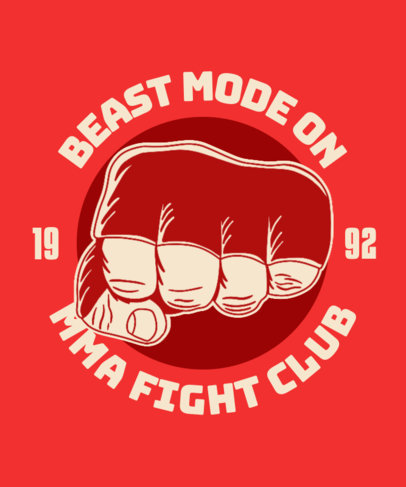 T-Shirt Design Maker for an MMA Fight Club with a Fist Graphic 3202d