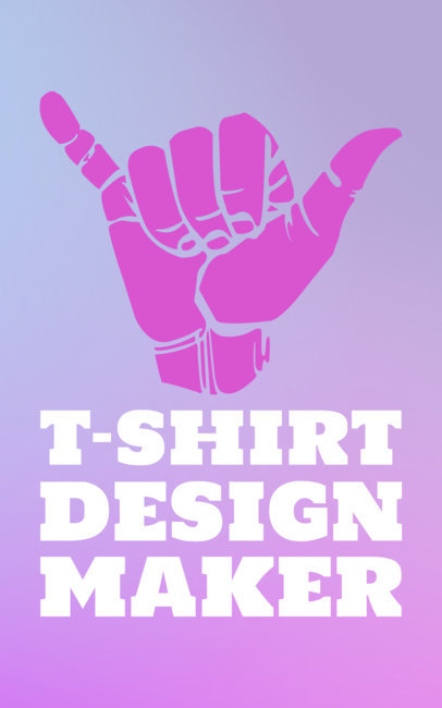 Simple Center Aligned T-Shirt Design Template