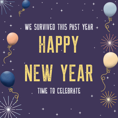 Instagram Post Design Maker with a New Year Phrase and a Festive Theme 3199f