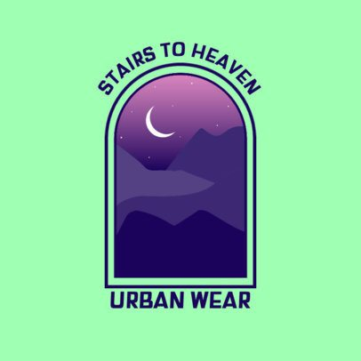 Clothing Brand Logo Creator with an Abstract Graphic of the Night Sky 3874i