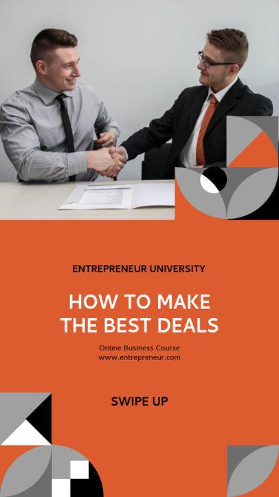 Instagram Story Generator for an Online Business Course 3236d-el1