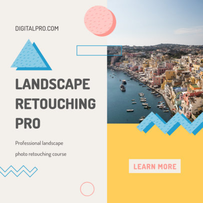 Instagram Post Design Template for a Photo Retouching Online Course 3252a-el1