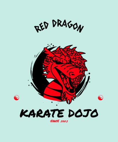 T-Shirt Design Template for a Karate Academy 3203g