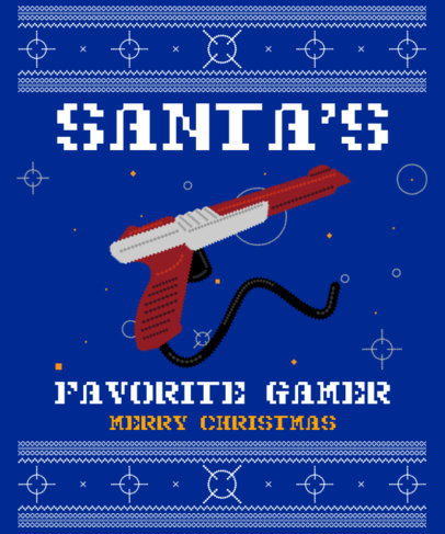 Christmas T-Shirt Design Template for Gamers 3212c