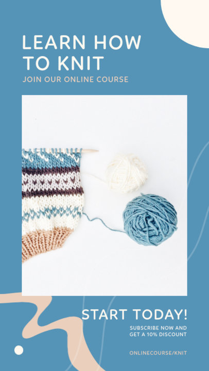 Instagram Story Maker for a Online Knitting Course 3238c-el1