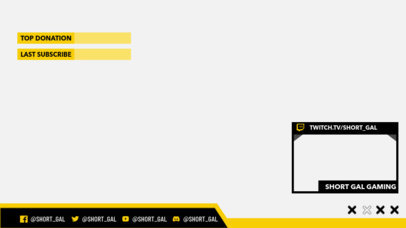 Twitch Overlay Creator for Sports Streamers Featuring Colorful Frames 3193b