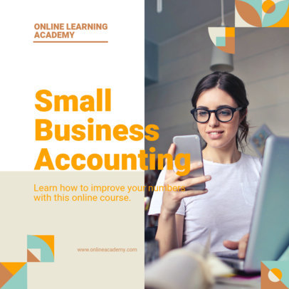 Instagram Post Generator for a Small Business Accounting Course 3246a-el1