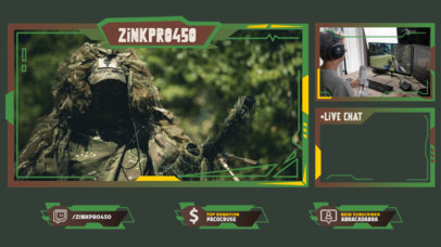 War-Themed Twitch Overlay Generator for Gamers 3214d-el1
