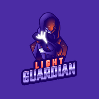 Logo Maker for a Gamer with a Graphic Inspired by a Warlock From Destiny 3884i