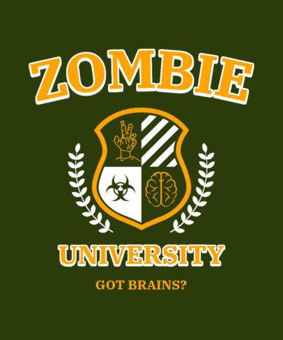 T-Shirt Design Maker Featuring an Emblem with Zombie Graphics 3209e