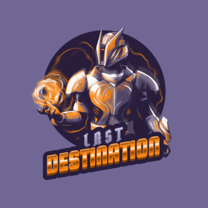 Destiny-Inspired Logo Maker Featuring a Powerful Warrior Illustration 3884e