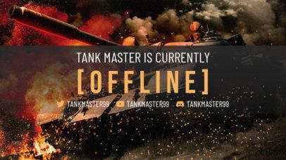 Twitch Offline Banner Generator Featuring a Cool War Tank 3224c