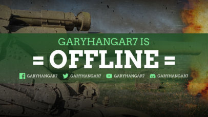 Twitch Offline Banner Design Template for War Gamers 3224b