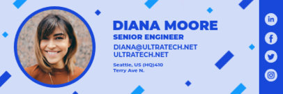 Email Signature for a Senior Engineer Featuring a Cool Layout 3232e