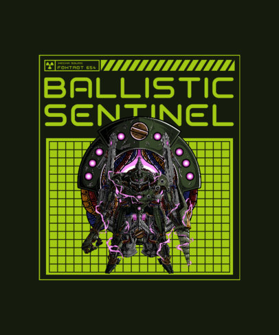 T-Shirt Design Creator with an Illustration of a Space Mecha 3282f-el1