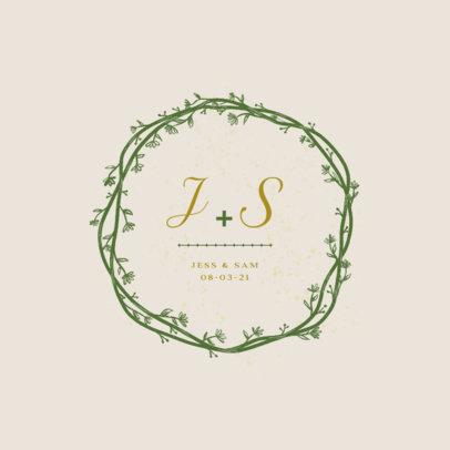 Beautiful Logo Template for Wedding Ceremonies 3919e