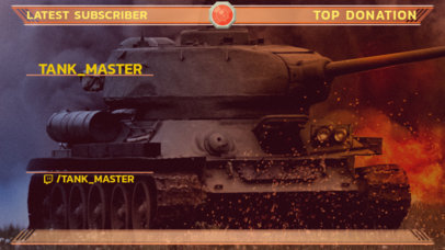 Twitch Overlay Generator Featuring a Graphic of a War Tank 3225d