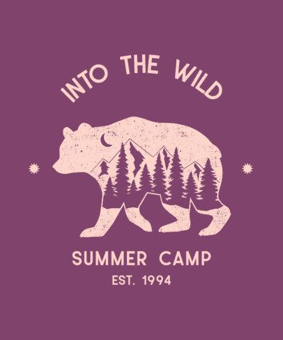 T-Shirt Design Maker for a Summer Camp Featuring a Bear Graphic 3230f