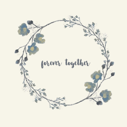 Logo Template with a Wedding Theme and Floral Graphics 3918i