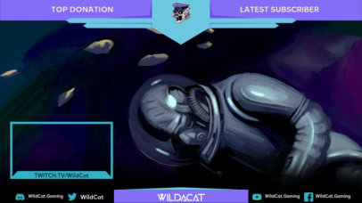 Space-Themed Twitch Overlay Maker for Gaming Streamers 3222c