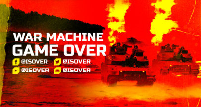War-Themed Twitch Banner Creator with Powerful Graphics of Tanks 3226e