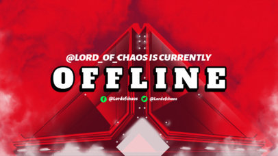 Destiny-Inspired Twitch Offline Banner Maker with a Cool Illustration 3221a