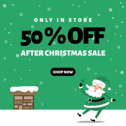 Christmas-Themed Instagram Post Creator for a Store-Only Sale 3308d-el1