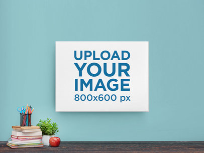 Mockup of a Canvas Hanging on a Teenager's Bedroom m962
