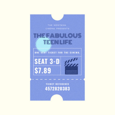 Music Logo Generator Featuring a Carnival Ticket Style 3938d