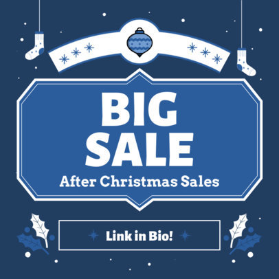 Instagram Post Design Maker Featuring Sales Copy and a Christmas Theme 3302b-el1