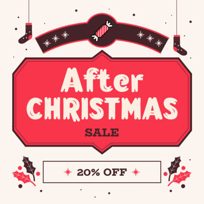Instagram Post Generator Featuring an After Christmas Sale Announcement 3302e-el1