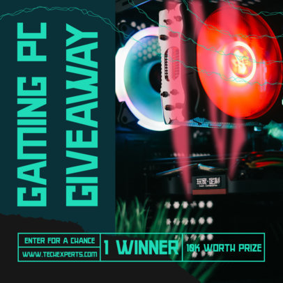 Instagram Post Generator for a Gaming PC Giveaway 3292a-el1