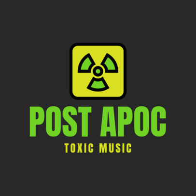 Logo Maker for a Musician with a Hazardous Icon 3939a