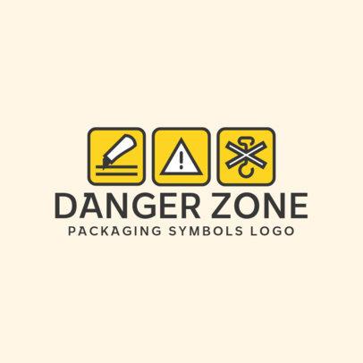 Illustrated Music Logo Maker Featuring Packaging Warning Symbols 3939f