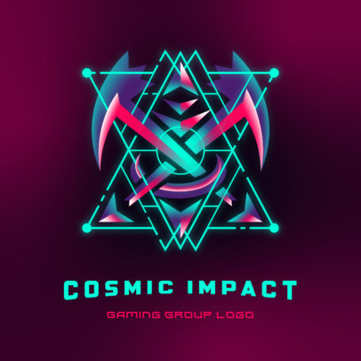 Space Logo Template Featuring a Cosmic Shield 3949a