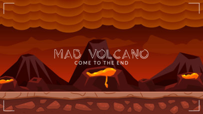 Discord Theme Design Template with Lava and Volcanoes in the Background 3335e-el1