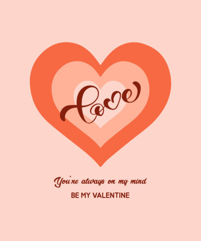 Valentine's Day T-Shirt Design Maker with a Heart Illustration 3374e-el1